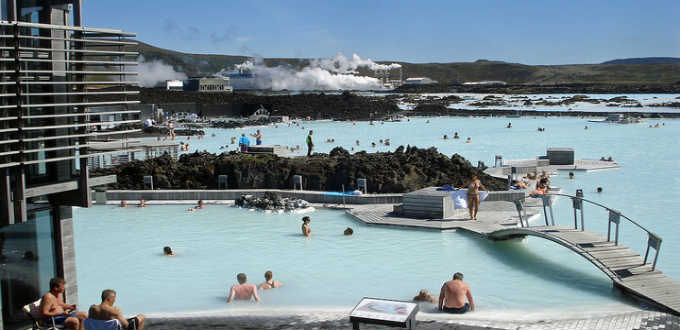 Probably the most famous tourist attraction in Iceland is the beautiful Blue lagoon. It´s worth a visit and for more reasons than just to relax. PIC Dominic Geezer