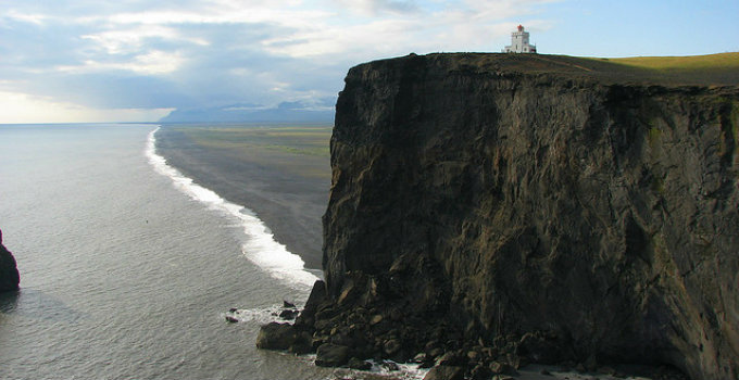 One of the most majestic lighthouses in Iceland is found on Dyrholaey in the South of the country. PIC Seyemon