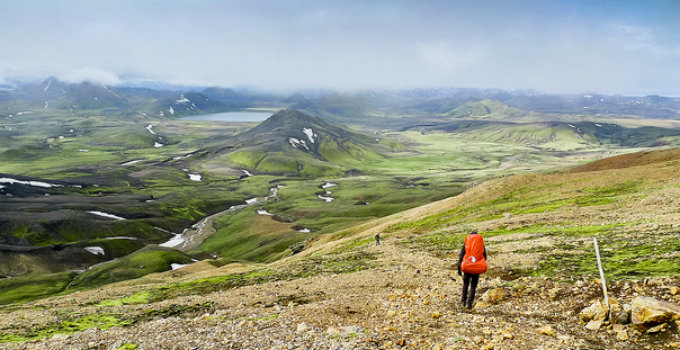 The Laugavegur trekking trail bends around the most fabulous landscape. PIC mr.keasone