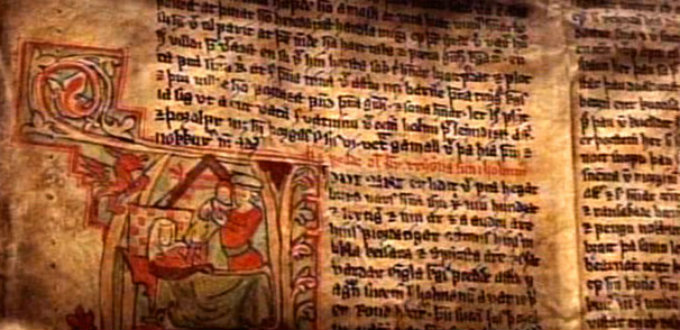 The famous Sagas of Iceland are hundreds of years old but locals can still easily read them today.