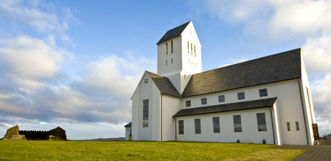 The church and Thorlaksbud next to it. The only two things really worth any time in Skalholt Iceland. PIC fluffypinkcloud