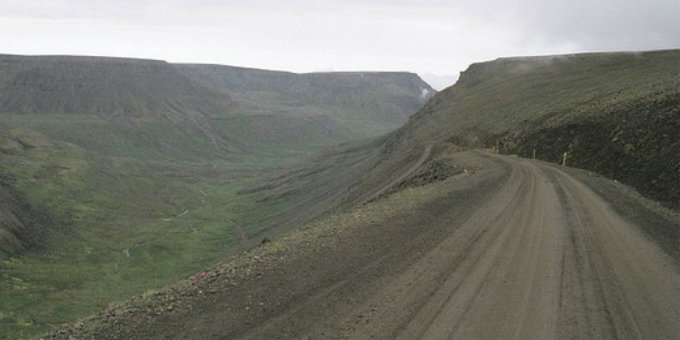 "Would you believe this is a ""nice"" Icelandic road? PIC Danventure"