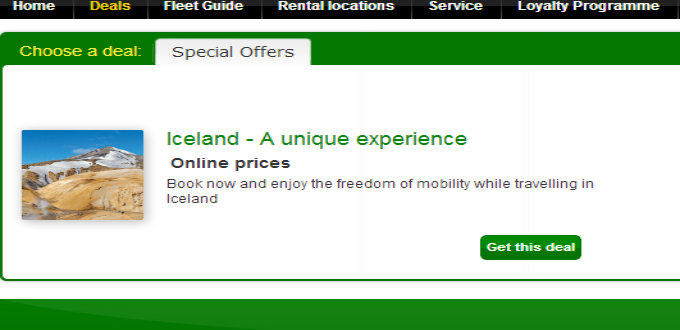The deals site lists no special offers.