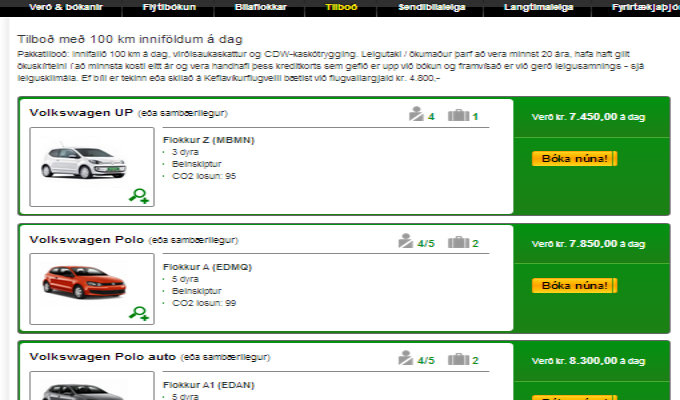 Sadly, foreigners do not get the offers locals get from Europcar Iceland
