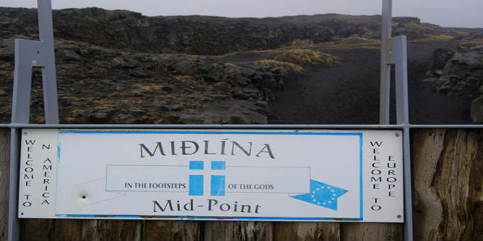 About the crappiest midpoint you can find in Iceland is the official one. PIC Badly Drawn Dad