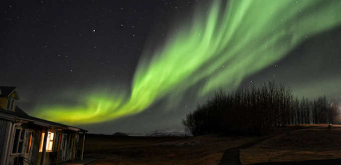 Should the skies be clear you can most often catch a glimpse of greatness in Iceland. PIC Emil Kopke