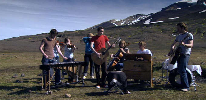 Way up in the highland of Iceland. Sigur Rós on tour. PIC offical web