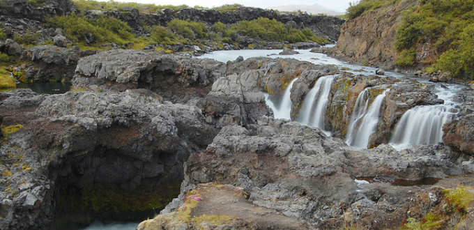 Not big or huge in any sense but impressive nevertheless. Barnafossar waterfalls in Iceland. PIC Paul Hutchinson