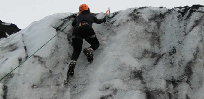 Ice and glacier climbing in Iceland is no child´s play. PIC christine zenino