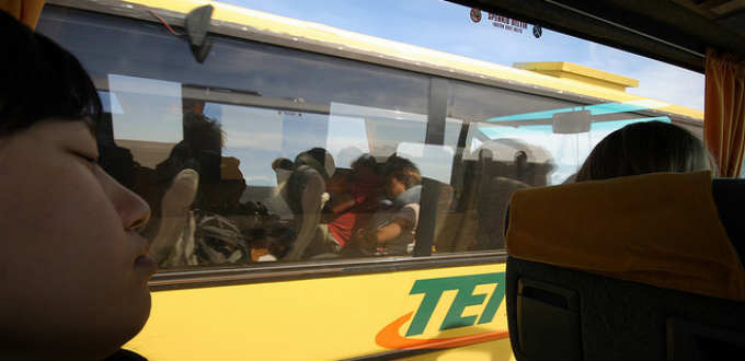 Exactly what one needs while traveling the highland of Iceland. Traffic jam of buses. PIC Hello, I am Bruce