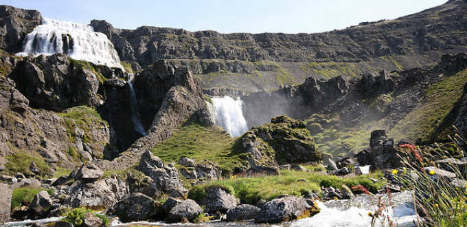 The waterfall of Dynjandi is in fact the name used for a lot of falls. PIC david.blaisonneau
