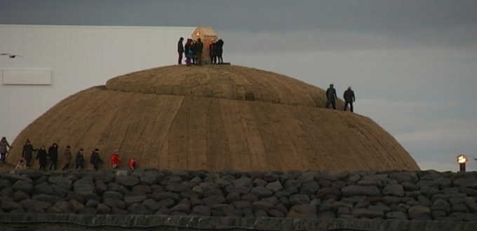 A serious competitor to the Dallas grassy knoll has risen in Reykjavik, Iceland. PIC Ruv