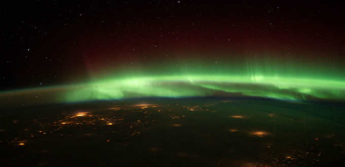 What it´s all about. With darkness fading so are the Northern lights. PIC NASA