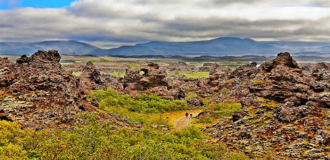 Just one of many stunning natural sights of Myvatn. Like many places in Iceland, Dimmuborgir or Dark Cities, is appropriately named. PIC Alessando Grussu