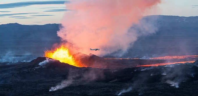 Holuhraun volcano in Iceland is till going strong and could do so for years on end. PIC Sparkle Motion