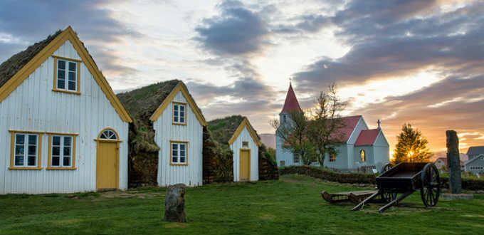 As romantic as it gets. Weddings in rural Iceland are infinitely more memorable than a normal church service. PIC Fougerouse Arnaud