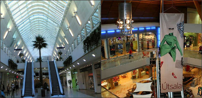 The two shopping malls of greater Reykjavik area are Smaralind and Kringlan.