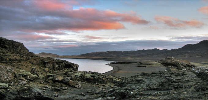 The whole landmass known as Reykjanes on which sits Iceland´s only international airport is geologically active. PIC Greg Kruk