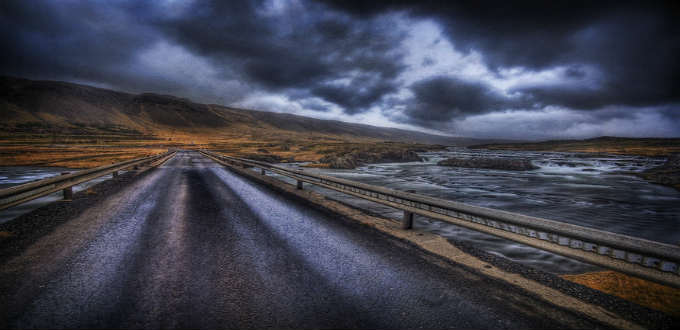 Narrow yes, straight no. Driving in Iceland will mean focus all the time. PIC Trey Ratliff