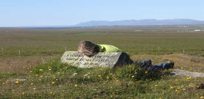The exact spot of the last execution in Iceland is marked by a small monument in Vatnsdalsholar in the North of Iceland. PIC Carolyn Whipple
