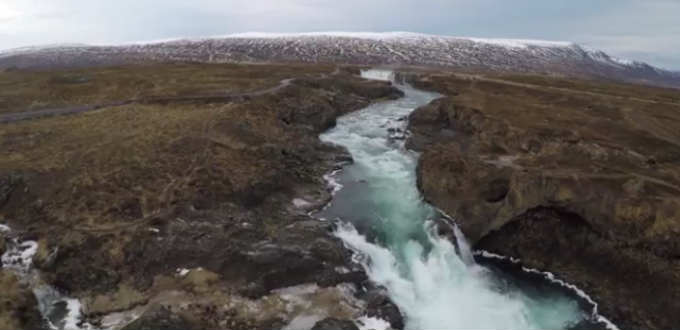 A number of the mighty waterfalls seen in a popular video will soon be history. Screengrab