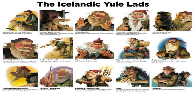 "The thirteen ""Santa´s"" of Iceland are not quite as attractive as the Coca Cola one but there is more depth for sure."