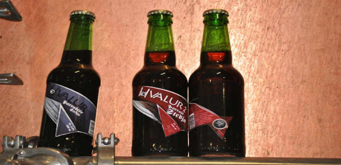 The beers in question. Appropriately named Hvalur 1 & 2 or Whale 1 & 2. PIC stedji.is
