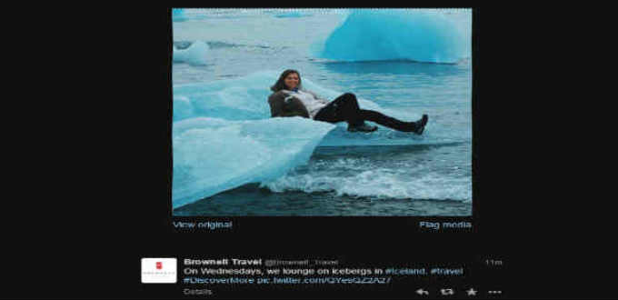 Chilling on a glacier is pure fun it seems and part and parcel of some tours. Pic twitter