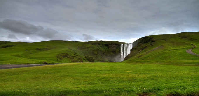 Skogafoss is one of the more famous of waterfalls in Iceland and is located at Skogar. PIC Victor Bautista