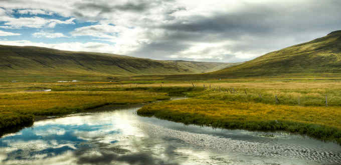 A tranquil valley in Hunavatnssyslu Iceland. Certainly nice and even beautiful but  on the scale of other things around here not very remarkable at all. PIC Jonathan