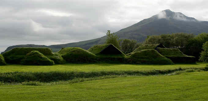 A remarkable number of old turf houses remain in Iceland. PIC Flickriver