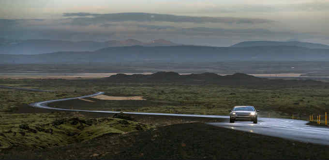 A long and winding road in Iceland. But what views. PIC Land Rover