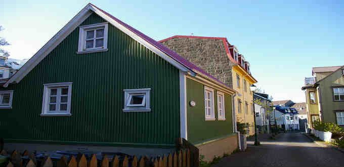 One of a couple or so streets belonging to the oldest part of Reykjavik Iceland.