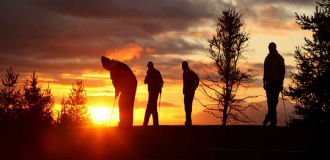 Even for seasoned golfers it´s easy to get thrilled playing under the midnight sun. PIC Arctic Open