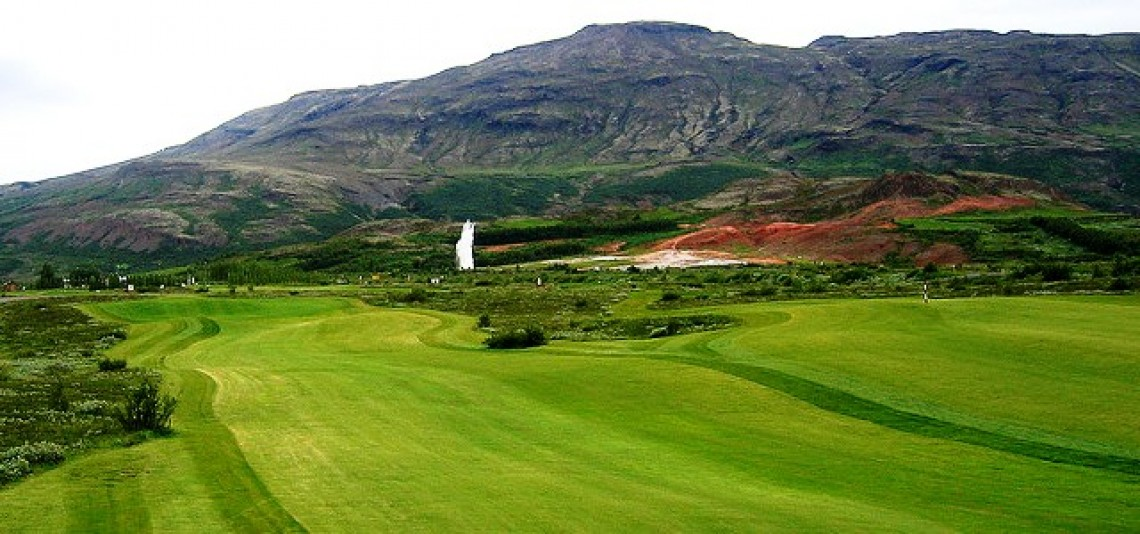 Priceless golf and Geysir to boot in Iceland