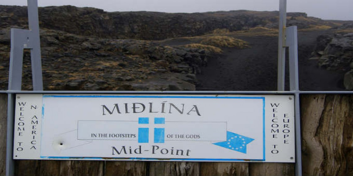 The crappiest midpoint in Iceland