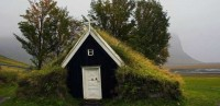 Praying in the smallest church in Iceland might present a problem to overweight people