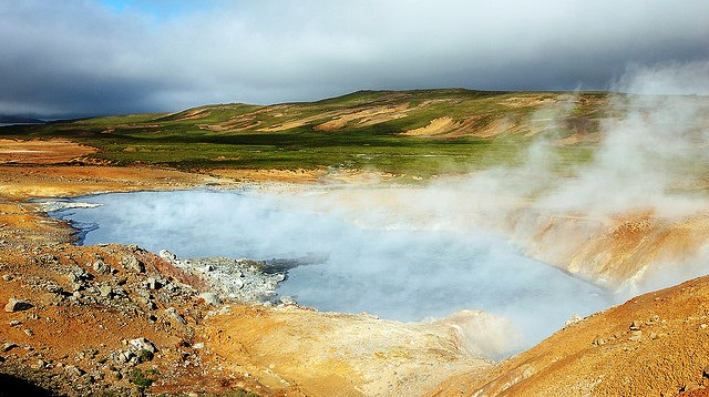 No need  to go far to see hot springs in Iceland