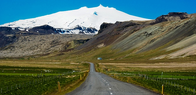 The disappearing Snaefellsjokull glacier in Iceland
