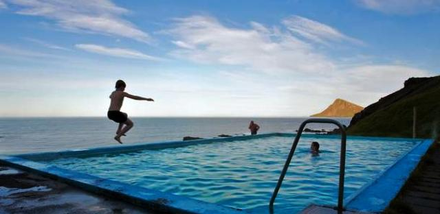 Swimming at the end of the world in Iceland