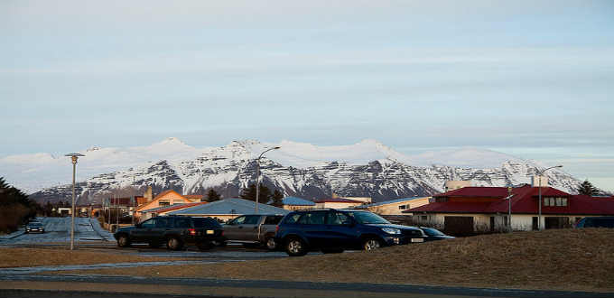 The town itself is unremarkable but as most elsewhere in Iceland the scenery absolutely stunning. PIC Jelle Gooossens