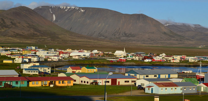A village in Iceland you can hear before you see