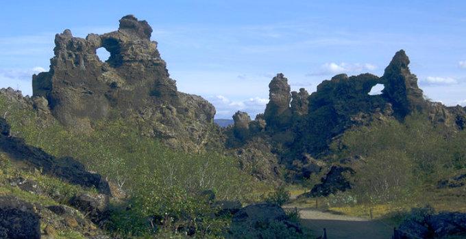 A land of trolls and adventures. Dimmuborgir near Myvatn is under immense threat. PIC genevieveroumerier