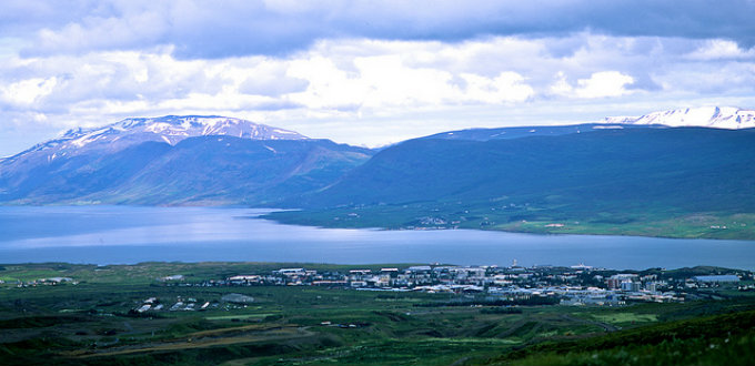 The Eyjafjordur fjord by which Akureyri sits is very beautiful and thousands of fantastic trekking routes all over. PIC Matt Benton