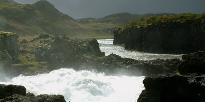 Prices for the best salmon rivers in Iceland are falling and haggling possible. PIC Eldan