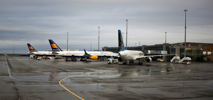 Icelandair planes docked at Keflavik airport in Iceland. They don´t look their age at all.