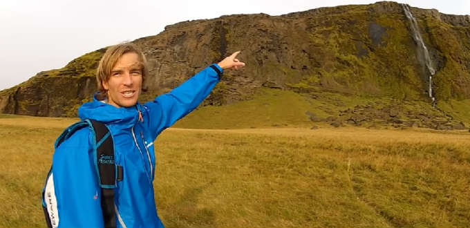 BASE jumping in Iceland