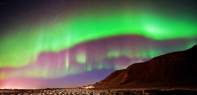 Chances of seeing the Northern lights in Iceland are not much in your favor. PIC c@rljones