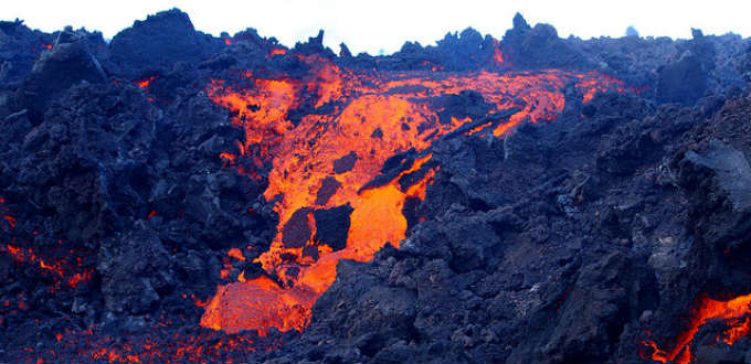 Lava flows is not a regular thing in Iceland contrary to what some believe. PIC Bruce McAdams