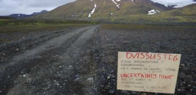 Tourist warnings in Iceland seldom very professional